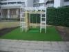 東京都大田区下丸子 東京サーハウス様 マンション敷地内の広場の遊び場 遊具下へ人工芝ステップターフを施工しました。