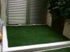 東京都世田谷区千歳台 マンション専用庭へ人工芝ステップターフが採用されました。人工芝施工後