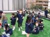 江川幼稚園様 園児達が人工芝の上で楽しく遊んでおります