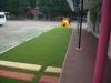 神奈川県相模原市 ひまわり幼稚園 園庭 人工芝ステップターフ張り替え施工しました。