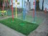 東京都大田区萩中 光輪幼稚園 園庭遊具下への人工芝ステップターフの張り替え施工しました。