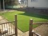 福島県須賀川市岩作 虹色保育園様 園庭部分へ人工芝ステップターフを施工しました。