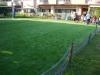 東京都大田区久が原 聖フランシスコ子供寮 園庭へ人工芝ステップターフを施工しました。