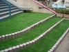 神奈川県川崎市 江川幼稚園様 階段部分へ人工芝ステップターフを施工しました。