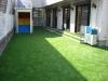 神奈川県川崎市宮前区犬蔵 ゆりかご幼稚園様 新園校舎の園庭へステップターフ人工芝が採用され施工しました。