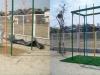 愛知県名古屋 暁幼稚園様の遊具下に人工芝を敷設しました