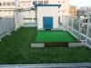 東京都大田区仲池上 エレベータ会社様の屋上に人工芝ステップターフが採用されました。人工芝施工後