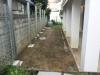東京都渋谷区恵比寿 新築の洋食器専門店のお庭に人工芝ステップターフを施工しました。人工芝施工前