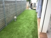 東京都渋谷区恵比寿 新築の洋食器専門店のお庭に人工芝ステップターフを施工しました。人工芝施工後