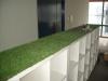 東京都渋谷区恵比寿 業務用食器販売会社の事務所内の受付に人工芝ステップターフを施工しました。