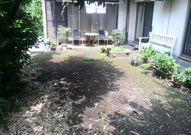 人工芝敷設前