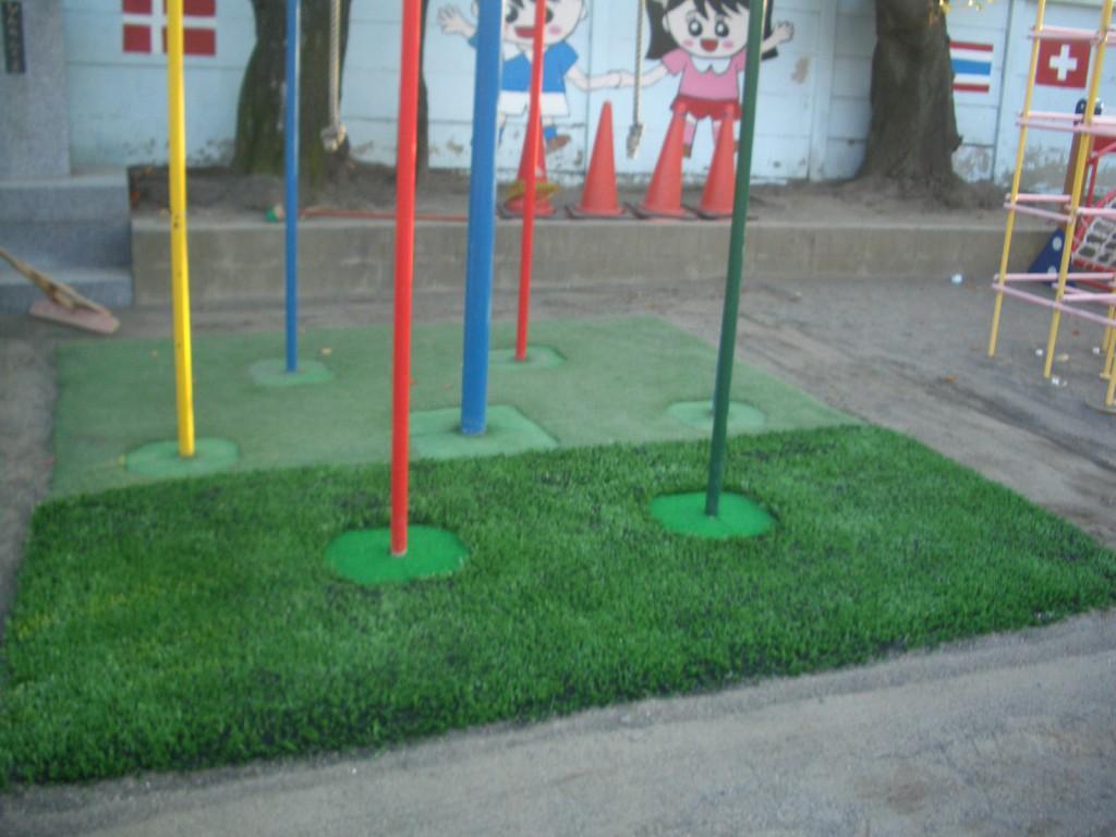 人工芝張り替え施工